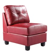 Glory Furniture Armless Slipper Chair; Red