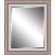 Ashton Wall D cor LLC Ribbed Wood Framed Beveled Plate Glass Mirror; X Large