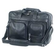 Mercury Luggage Sondrio Leather Briefcase; Black