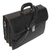 Floto Imports Firenze Leather Laptop Briefcase; Black