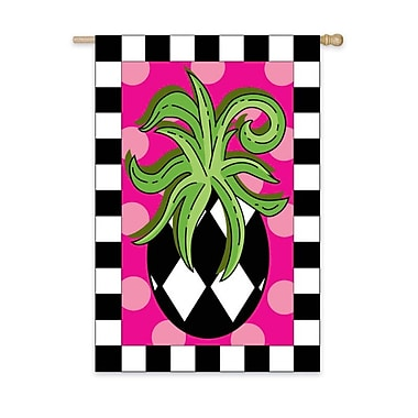 Evergreen Flag & Garden Harlequin Pineapple Garden Flag; 54'' H x 36'' W