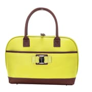 Travelers Club Paradise Padded Laptop Tote; Yellow