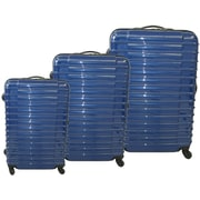McBrine Luggage 3 Piece Luggage Set; Blue