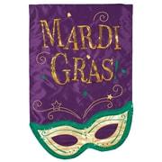 Evergreen Flag & Garden Mardis Gras Mask Vertical Flag