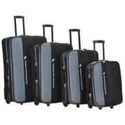 Rockland Polo Equipment 4 Piece Upright Luggage Set; Charcoal