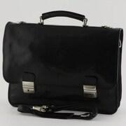 Tony Perotti Firenze Leather Laptop Briefcase; Black