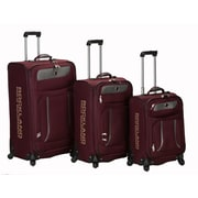 Rockland Polo Equipment Navigator 3 Piece Spinner Luggage Set; Burgundy