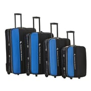 Rockland Polo Equipment 4 Piece Upright Luggage Set; Navy