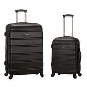 Rockland Melbourne 2 Piece Expandable Luggage Set; Black