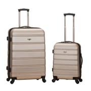 Rockland Melbourne 2 Piece Expandable Luggage Set; Champagne