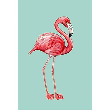 Betsy Drake Interiors Flamingo Vertical Flag; 28'' W x 40'' H