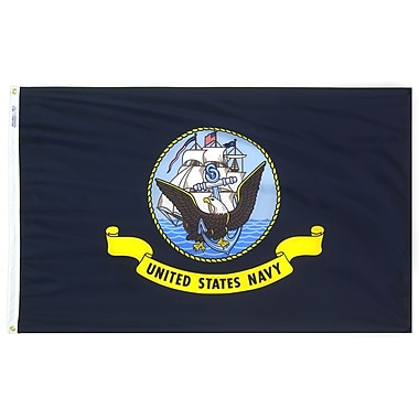 Annin Flagmakers Armed Forces United States Navy Traditional Flag; 3' x 5'