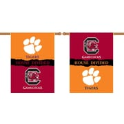 BSI Products NCAA House Divided 2-Sided Banner; Clemson v. South Carolina