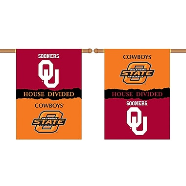 BSI Products NCAA House Divided 2-Sided Banner; Oklahoma v. OK State