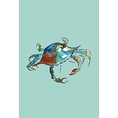 Betsy Drake Interiors Crab Vertical Flag; 28'' H x 40'' W