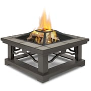 Real Flame Crestone Wood Burning Fire Pit; Gray