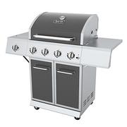 Dyna-Glo 4-Burner Propane Gas Grill w/ Side Burner; Gun Metal Gray
