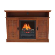 Stonegate Augusta TV Stand with Electric Fireplace; Red Oak