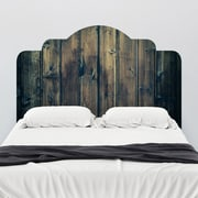 Walls Need Love Stained Wood Adhesive Headboard Wall Decal