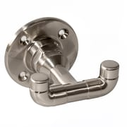 Design House Kimball Wall Mount Double Robe Hook; Satin Nickel