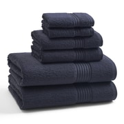 Kassatex Combed Long Staple Twist Cotton- 6 Piece Towel Set; Eclipse Blue