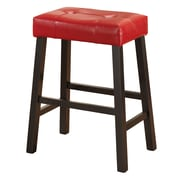 Glory Furniture Bar Stool With Cushion (Set of 2); Red