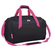 Travelers Club Xpedition 21'' Duffel; Black w/ Pink Trim