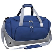 Travelers Club Xpedition 21'' Duffel; Navy w/ Gray Trim