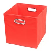 Modern Littles Bold Folding Cube Storage Bin; Red