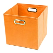 Modern Littles Bold Folding Cube Storage Bin; Orange
