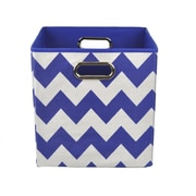 Modern Littles Chevron Toy Storage Bin; Blue