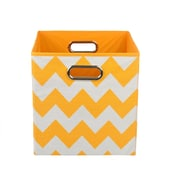 Modern Littles Chevron Toy Storage Bin; Orange