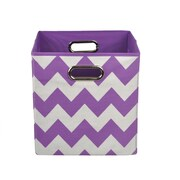 Modern Littles Chevron Toy Storage Bin; Purple