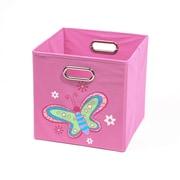 Nuby Butterfly Folding Toy Storage Bin; Light Pink