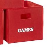 RiverRidge Kids Folding Storage Bin II; Red