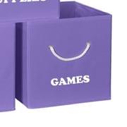 RiverRidge Kids Folding Storage Bin III; Purple