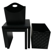 Upscale Designs by EMA 4 Piece Nesting Table; Black