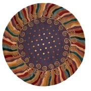 Momeni New Wave Purple Area Rug; Round 5'9''