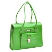 McKlein USA W Series River Forest Leather Laptop Briefcase; Green