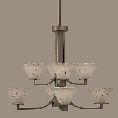 Toltec Lighting Apollo 8 Light Shaded Chandelier