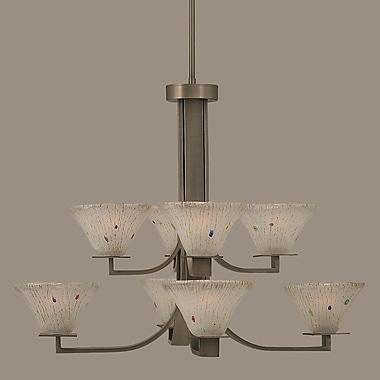Toltec Lighting Apollo 8 Light Chandelier w/ Hang Straight Swivel