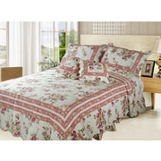 DaDa Bedding French Country Quilt Set; King
