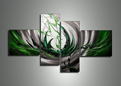 DesignArt Abstract 4 Piece Painting on Canvas Set WYF078277972415