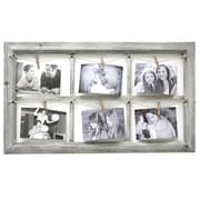 Fetco Home Decor Elan Wooden Wall Collage With Rope Picture Frame