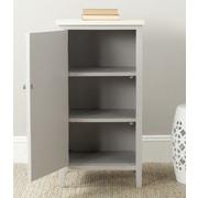 Safavieh Cary Cabinet; Grey / White