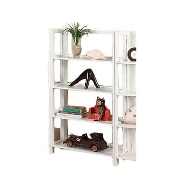 InRoom Designs 42'' Etagere Bookcase; White/White