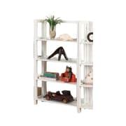 InRoom Designs 42'' Standard Bookcase; White/White