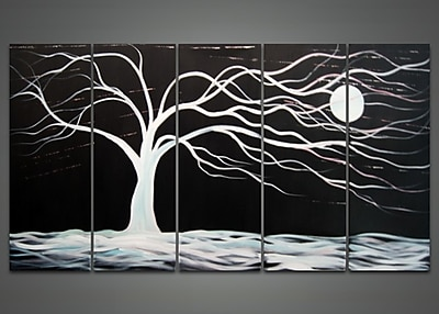 DesignArt Abstract 5 Piece Painting on Canvas Set WYF078277972333