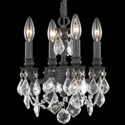 Elegant Lighting Lillie 4 Light  Chandelier; Elegant Cut
