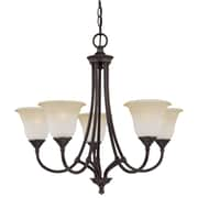 Thomas Lighting Harmony 5 Light Chandelier; Aged Bronze